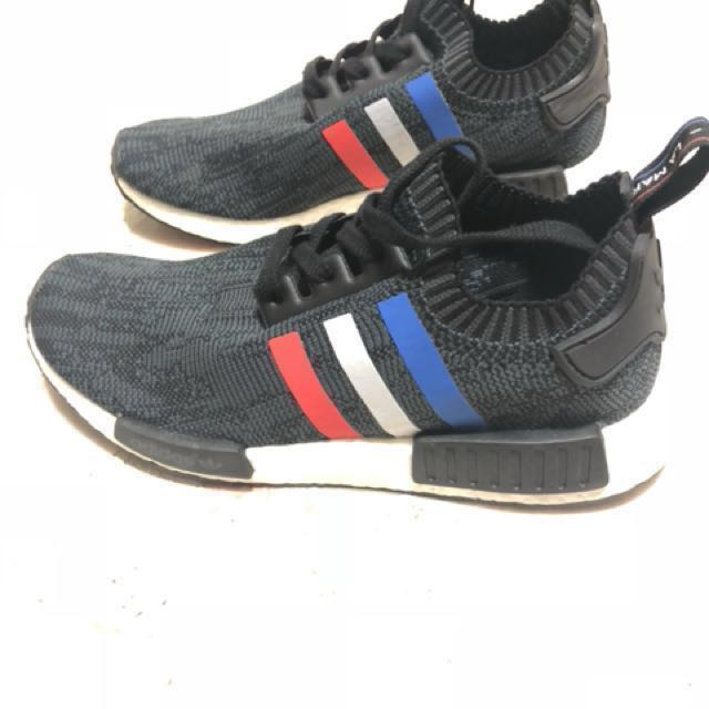 e90fd8e7c4454 Adidas NMD Tri Color Stripes Black US 9.5