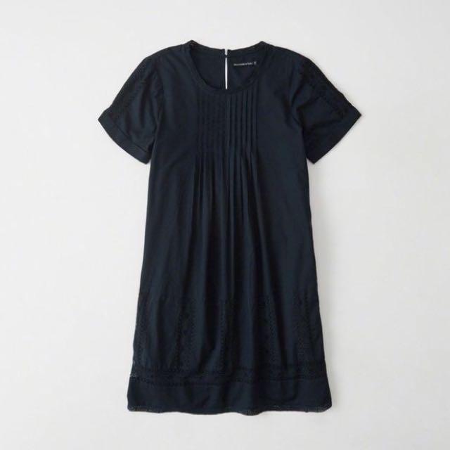 A&F Navy Tee Lace Shift Dress