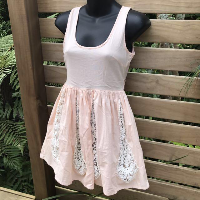 Angel Biba Branded Pastel Pink Dress