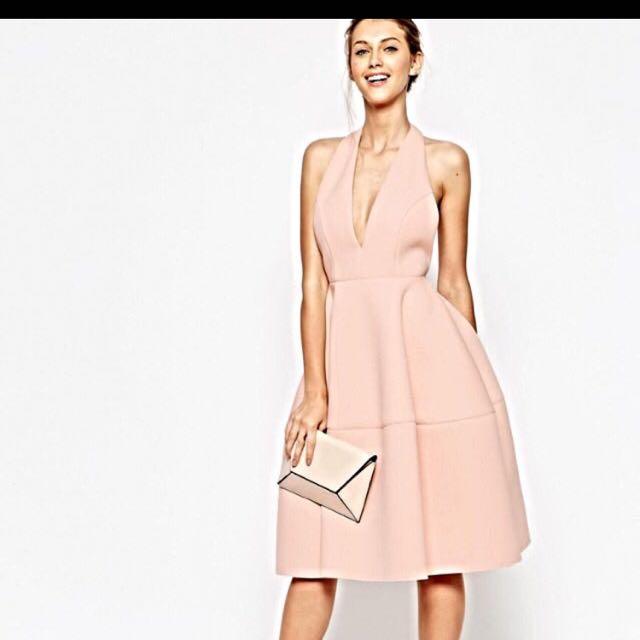 Asos pale nude pink dress