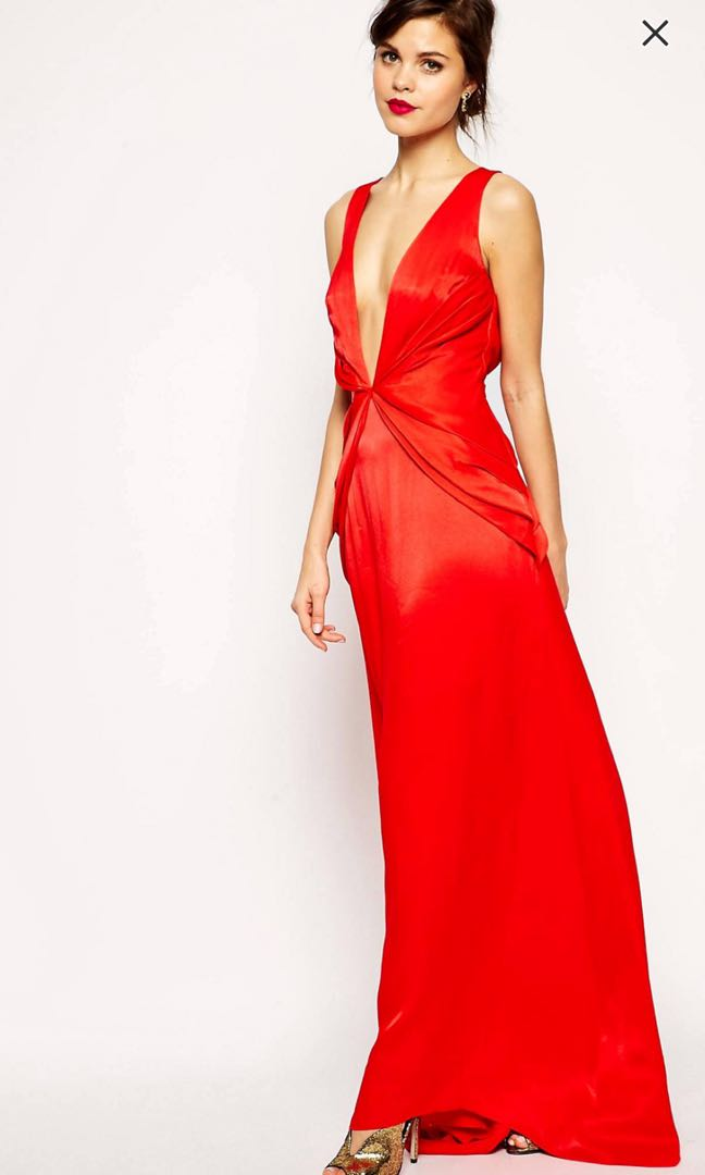 Asos red gown