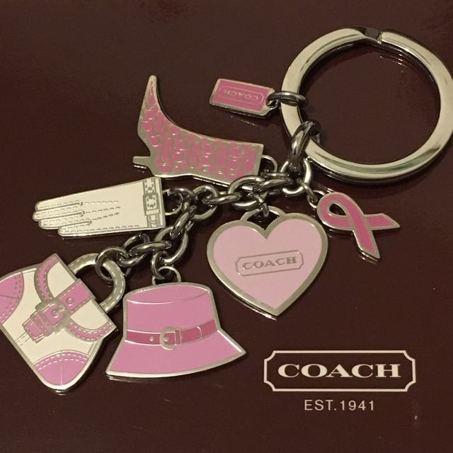 Authentic Coach Breast Cancer Keychain (Fob)