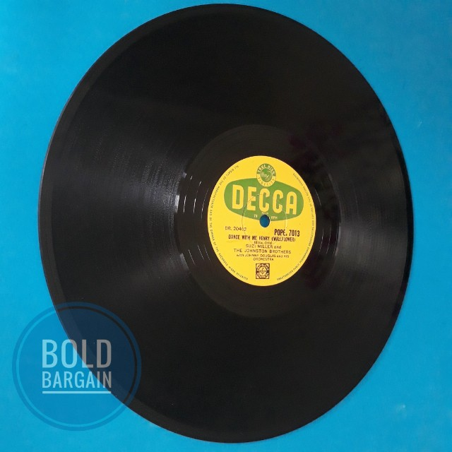 Authentic Vintage Vinyl Record 78 rpm Suzi Miller Majorca Johnston Brothers  for Turntable Gramaphone Record Player