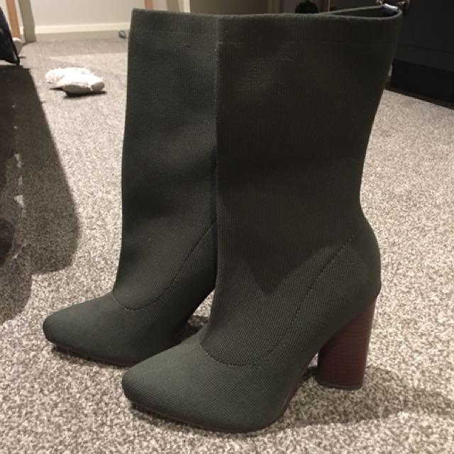 Bardot khaki boots