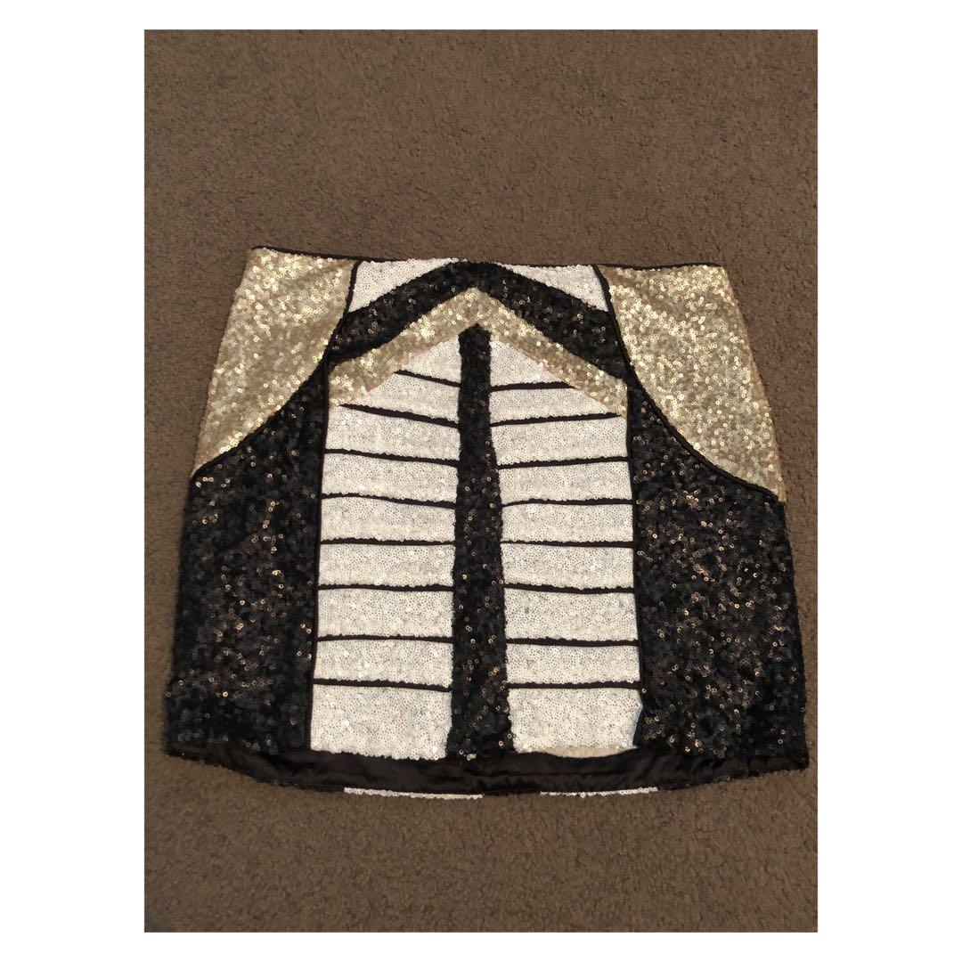 Bardot sequin skirt