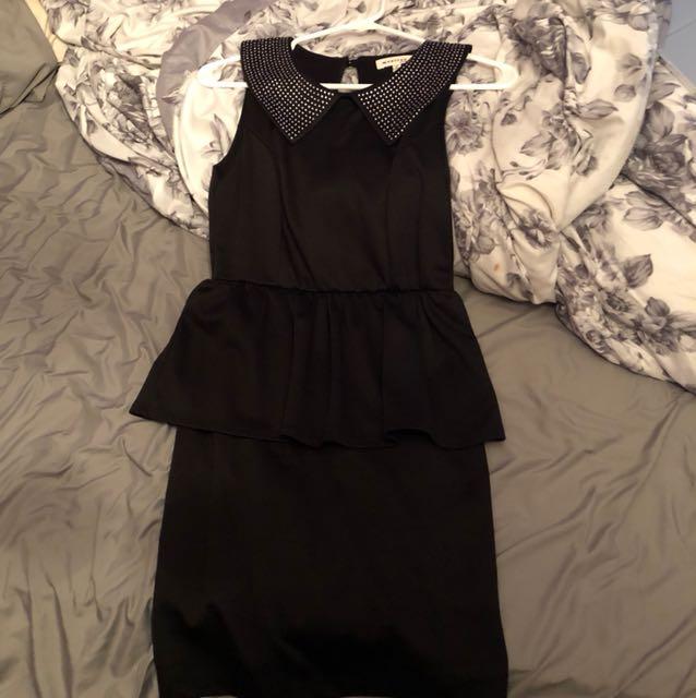 Black stoned dress size m