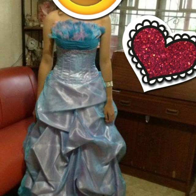 Blue js prom gown