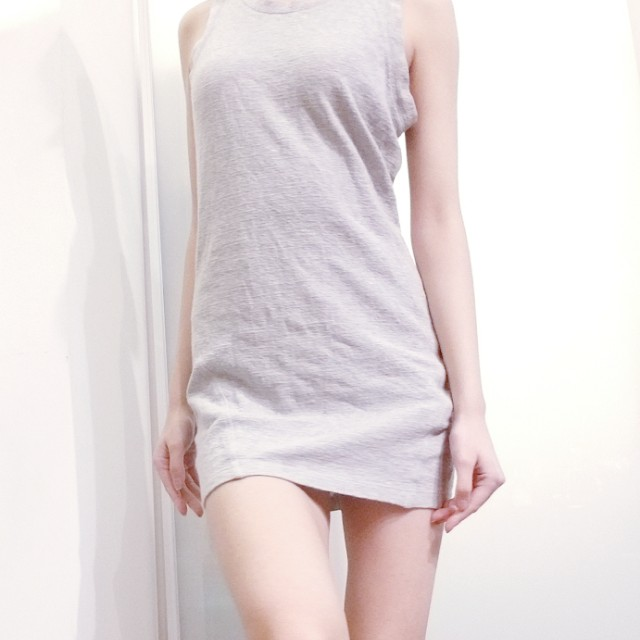 Bodycon grey tank dress forever21