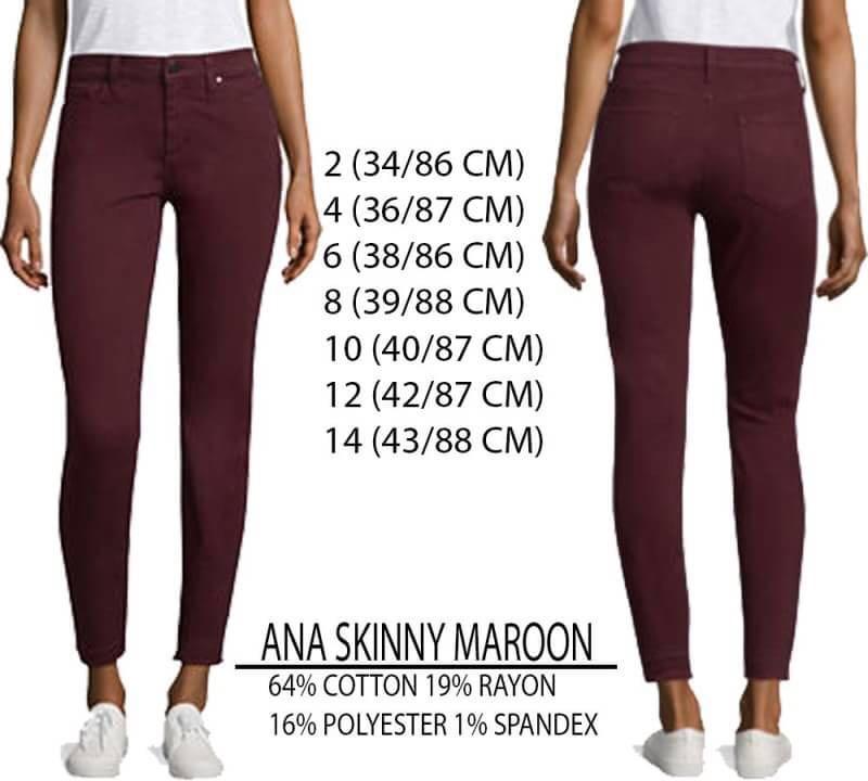 Branded Ana skinny maroon