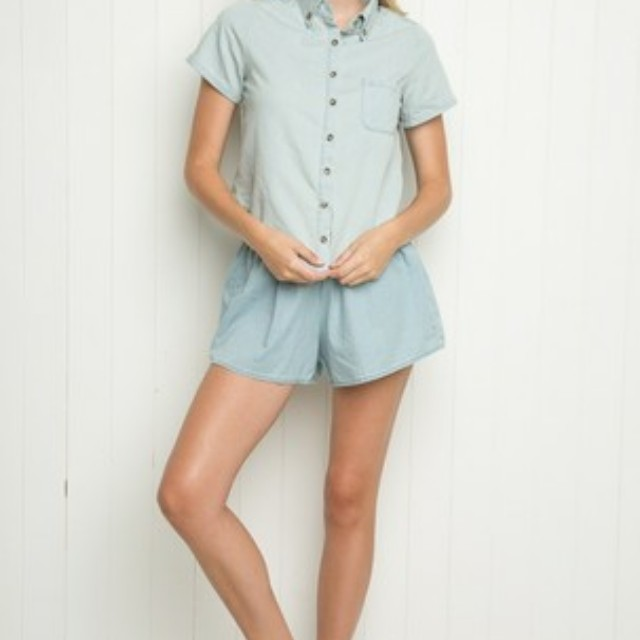 Brandy Melville Peyton denim shirt
