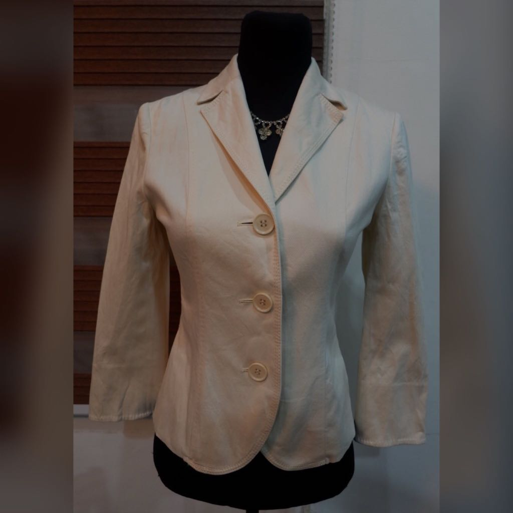 💎Calvin Klein Cream ButtonDown Coat/Cardigan💎