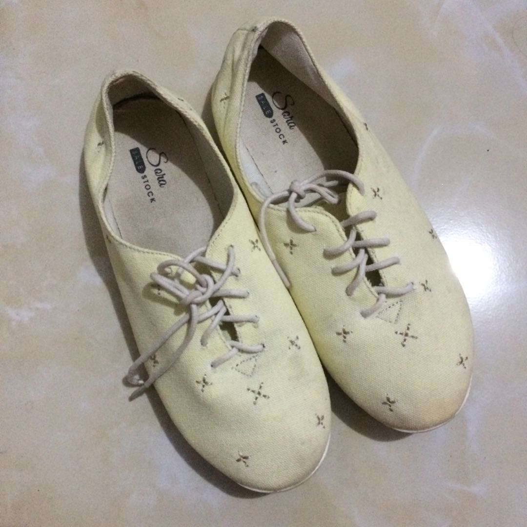 Canvas yellow shoes