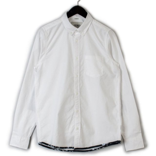 Carhartt WIP Buster Oxford Shirt 歐洲限定 牛津襯衫 白色 全新正品 S L