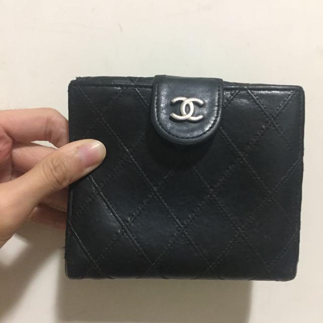 Chanel Vintage 老香 短夾 香奈兒