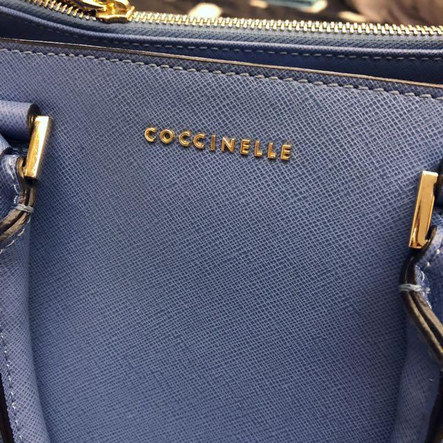 Coccinelle 手提 肩背 側背 多用包 義大利品牌 可裝A4 菱格紋材質