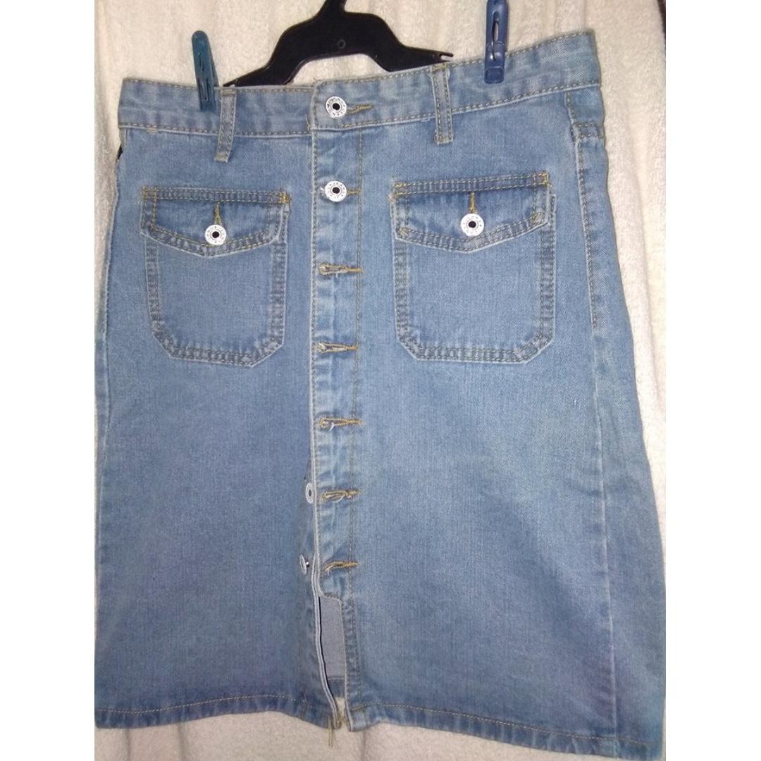 Denim Highwaist Skirt