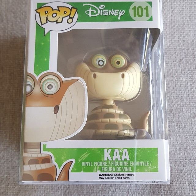 Disney Kaa funko pop vinyl with pop protector