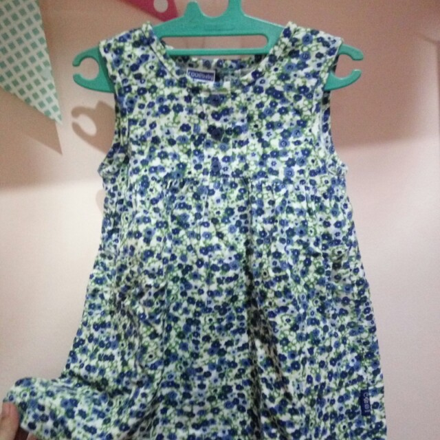 Dress Cool Baby Blue Flower