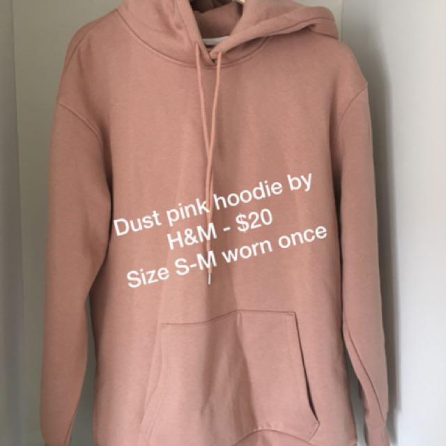 Dust pink hoodie by H&M