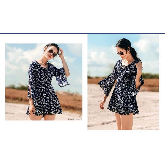 9ec5cd4c8d7 Fashmob Bethany Playsuit Navy