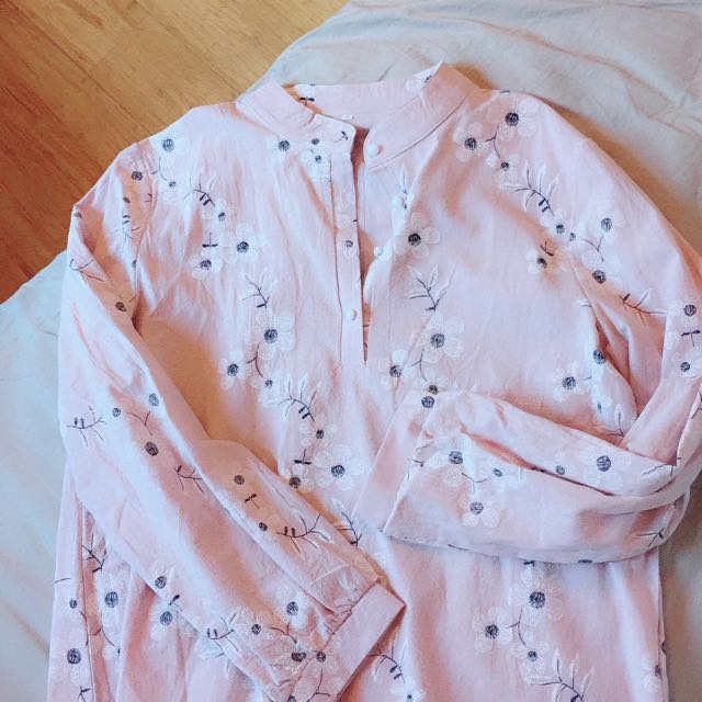 Florals ditsy pink blouse top