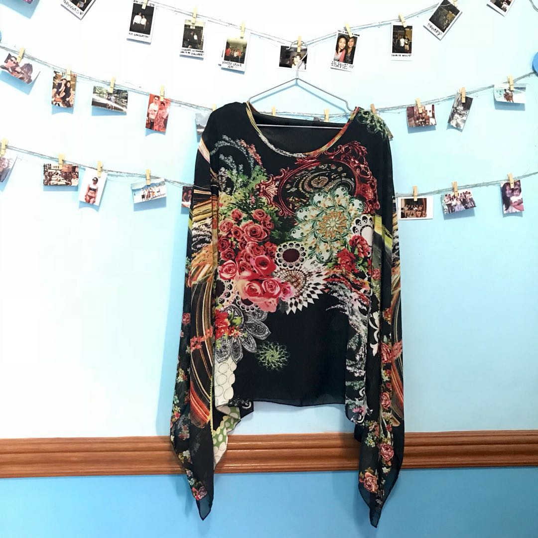 Flowy Floral Abstract Blouse.
