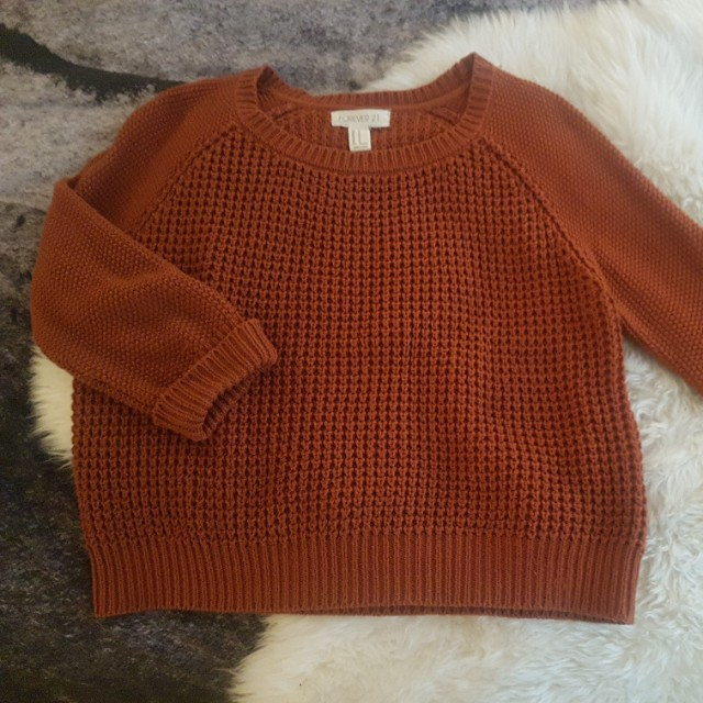 Forever 21 burnt orange sweater - M