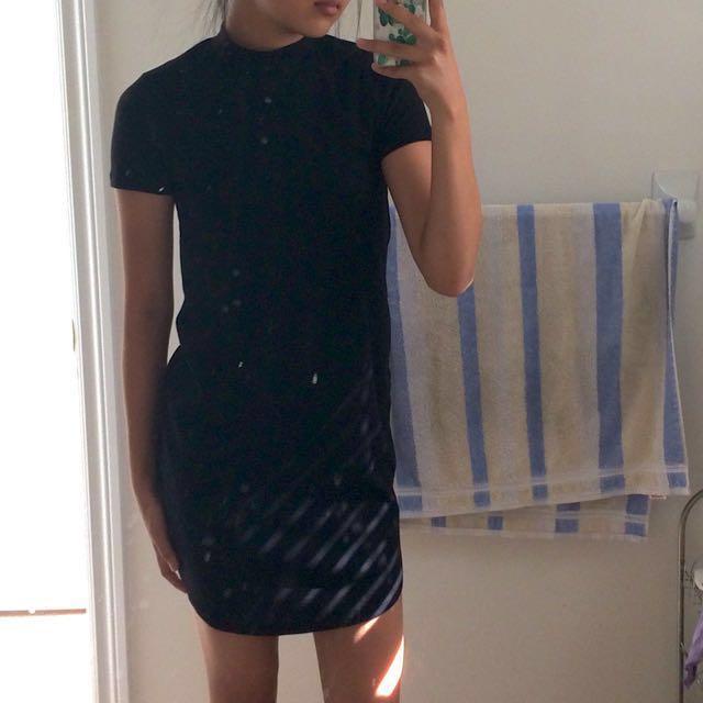 Garage Black Turtleneck Dress