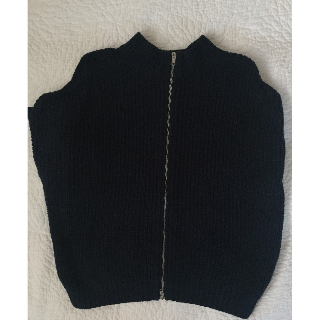 GLASSONS - knit zip up crew