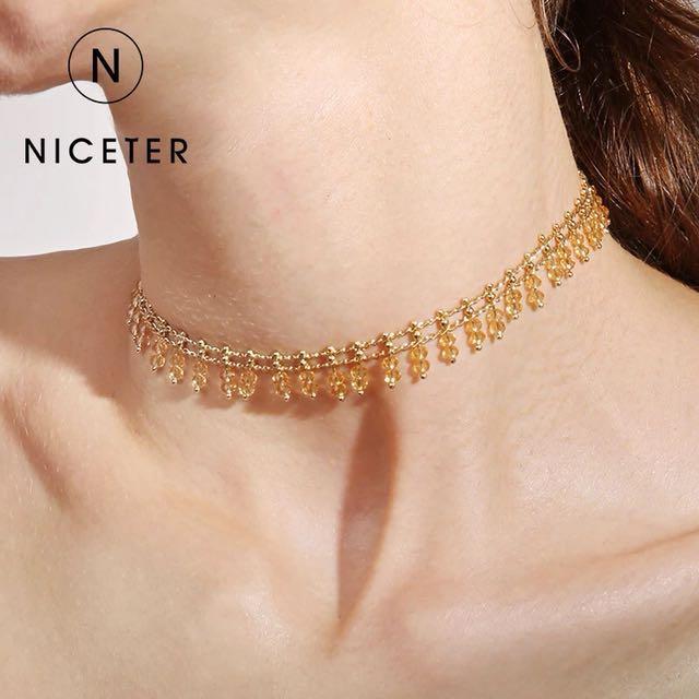 Golden beads Chocker Necklace