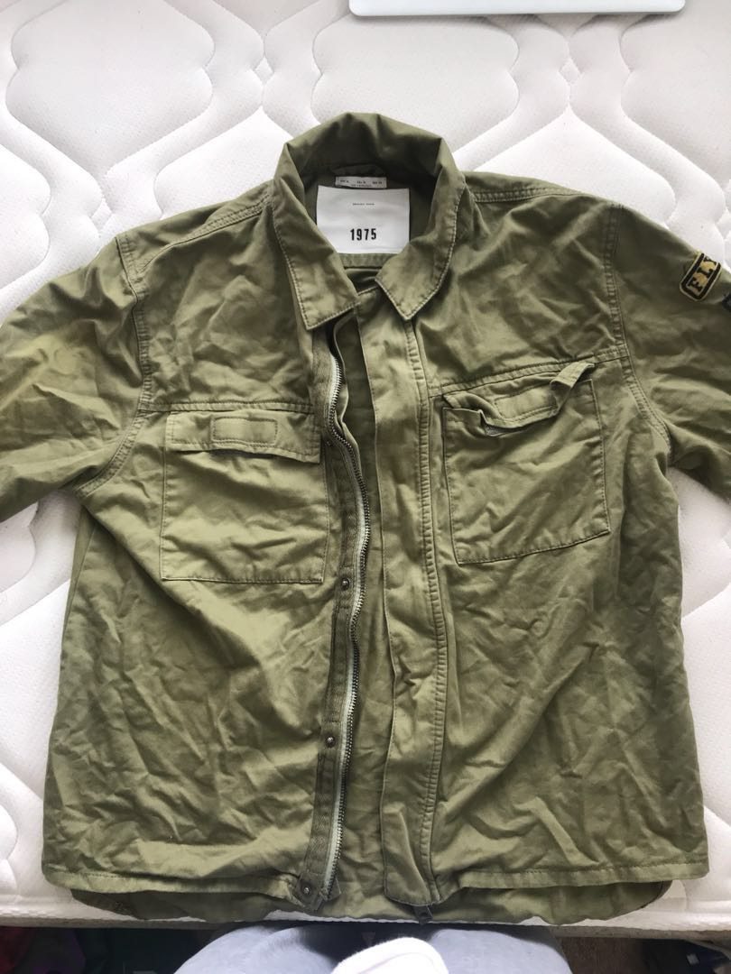 Green Army Denim Jacket