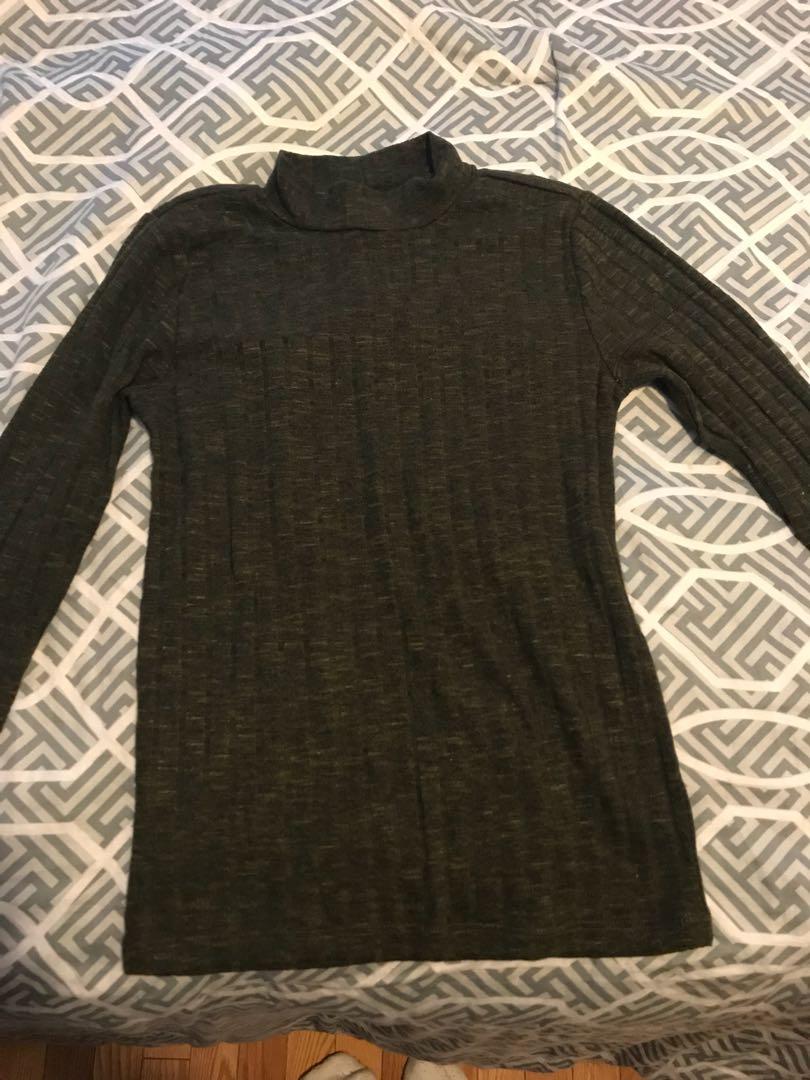 Green Turtle Neck Sweater