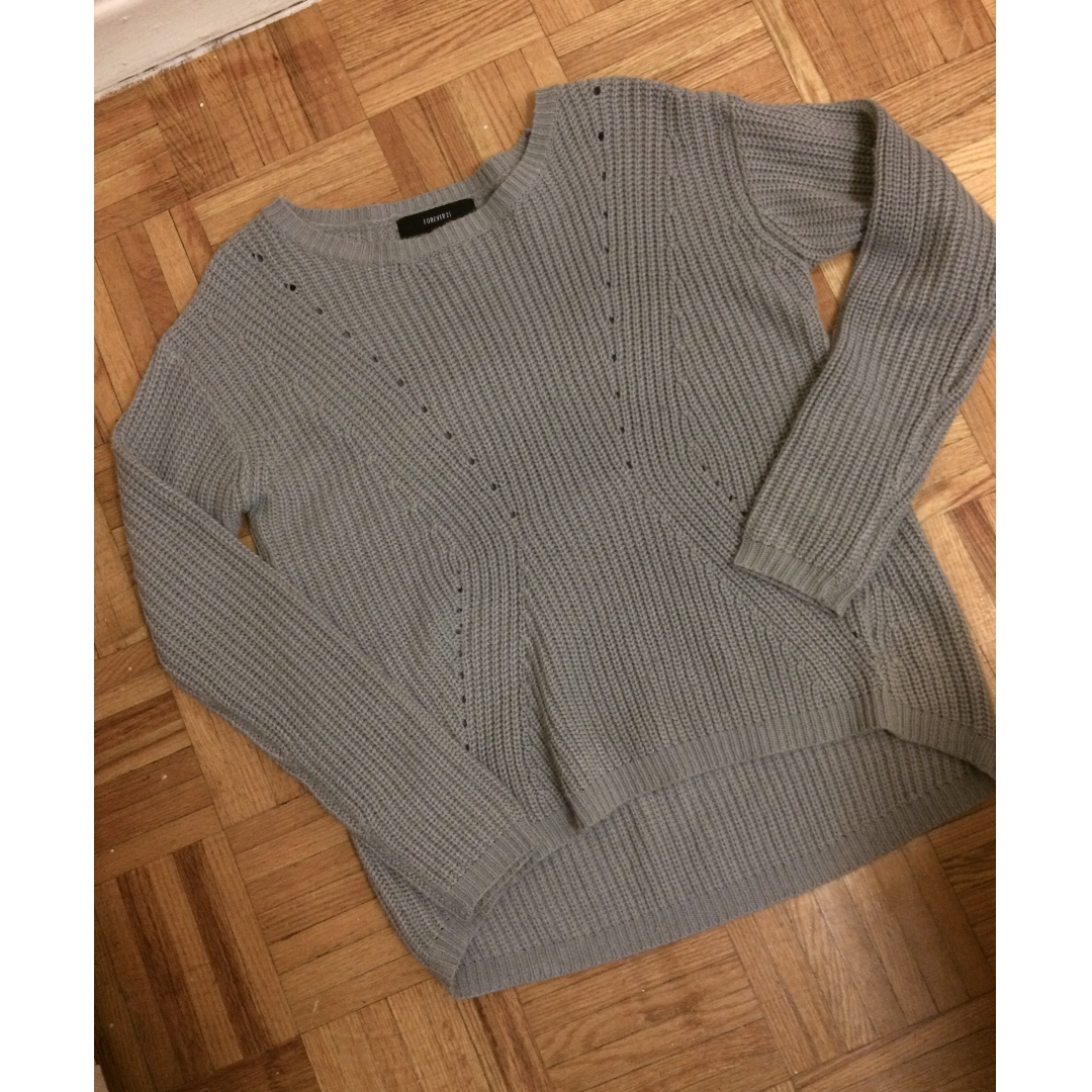 High-Low Grey Sweater