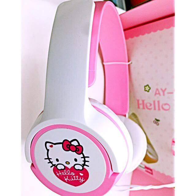 HELLO KITTY HEADSET WITH MICROPHONE