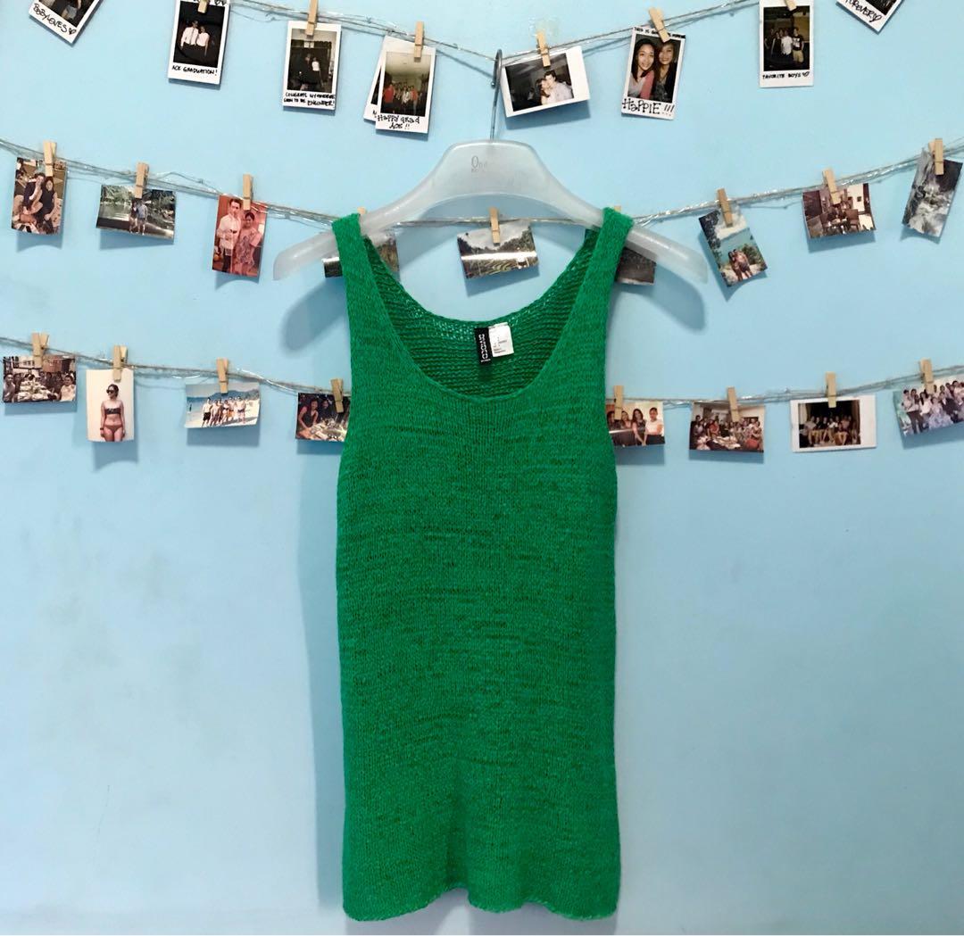 H&M Knitted Green Sleeveless.