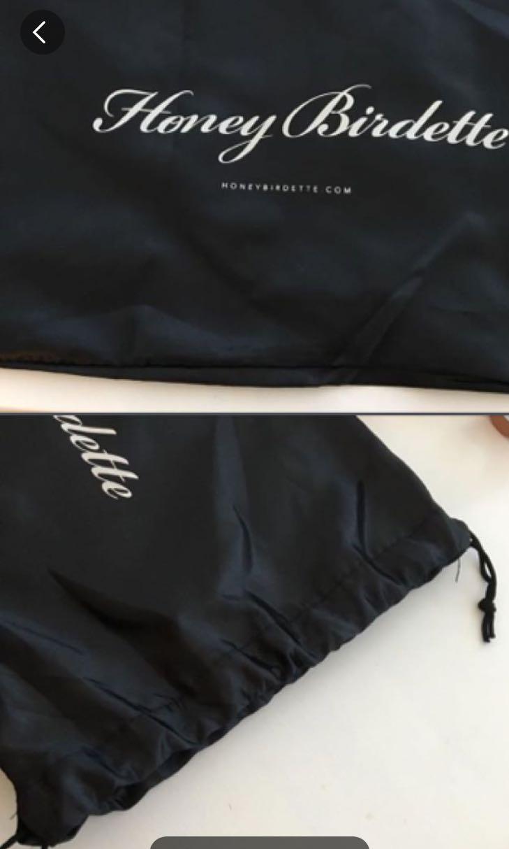Honey Birdette Satin Lingerie Bag