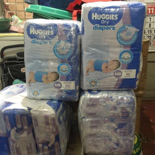 HUGGIES NB Dry Diapers (taped)