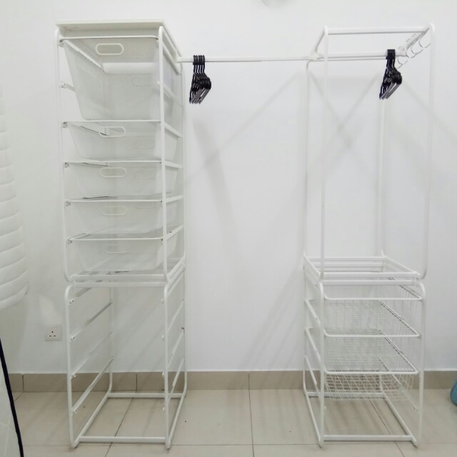 Ikea Algot Open Clothes Shoes Storage Home Furniture On Carou