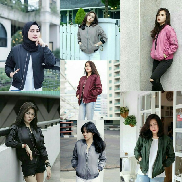 Jaket bomber despo jaket wanita bomber parasut jaket bomber wanita, Olshop Fashion, Olshop Wanita on Carousell