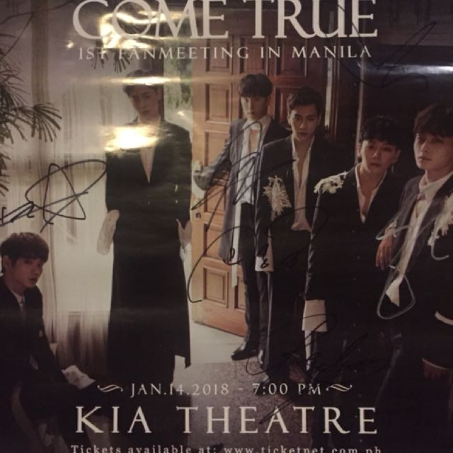 JBJ Signed poster from manila fanmeet