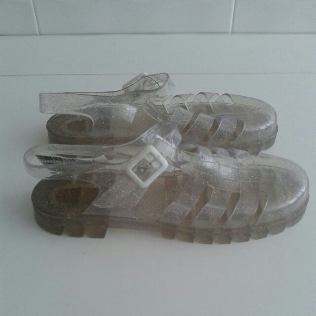 JELLY glitter shoe by JUJU UK sz US 7.5