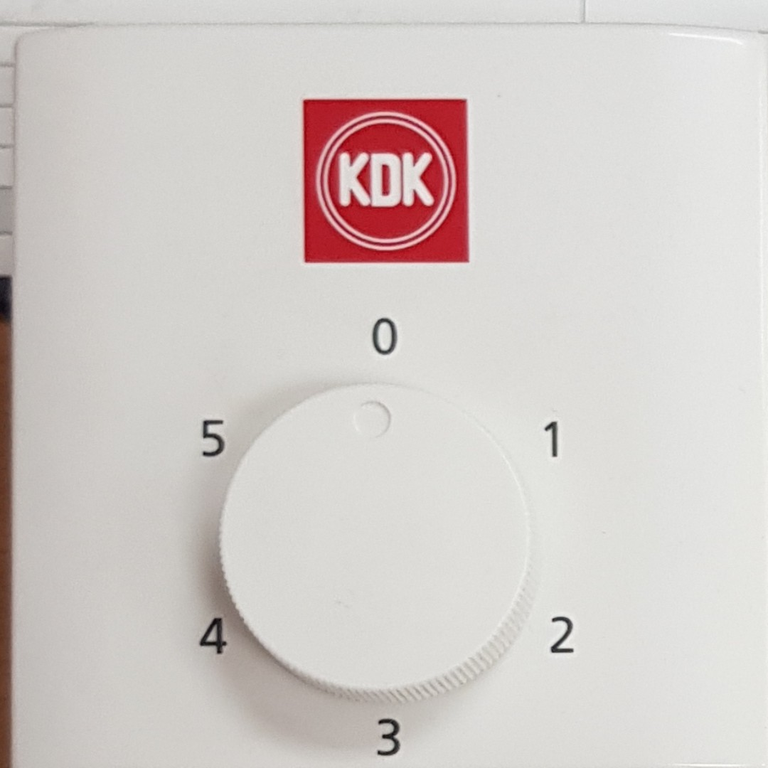 Kdk Ceiling Fan Speed Regulator Switch Box Up To 5 Speed