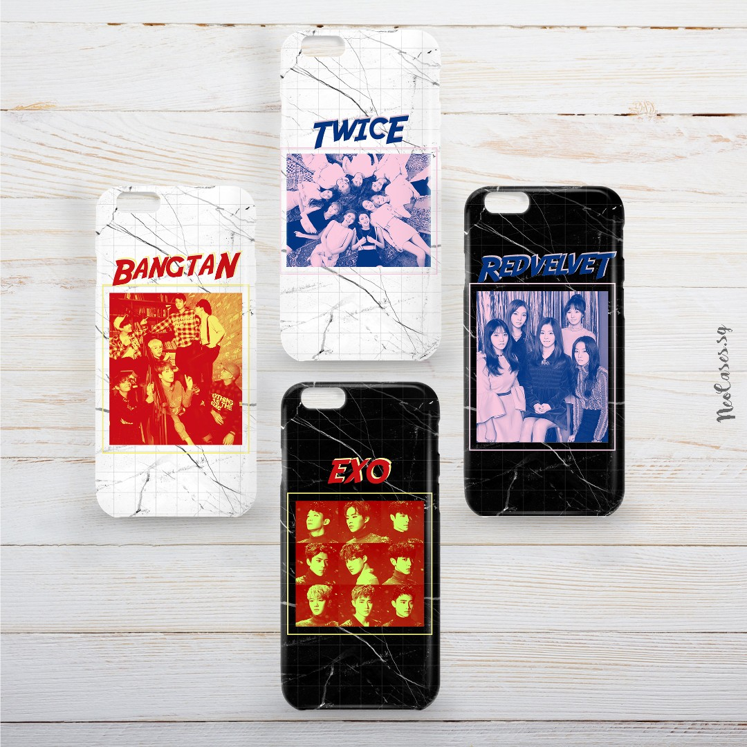 k-pop 90s inspired marble phone case (BTS, EXO, GOT7, SEVENTEEN, SHINEE,  ASTRO, WINNER, BLOCK B, BLACKPINK, TWICE, GFRIEND, RED VELVET)
