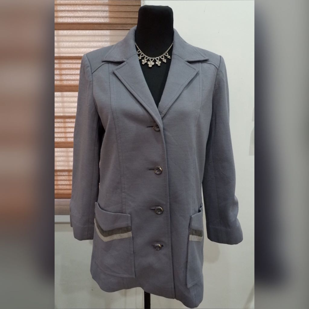 💎Lopel Sports Kylie Jenner Inspired Gray Button Down Dress Coat/Cardigan💎