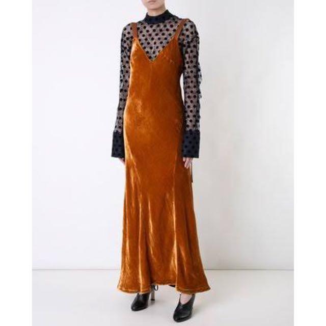 Manning Cartell firestone gown / dress in velvet