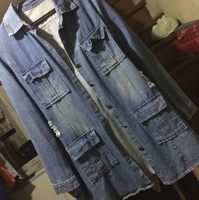 Maong Dress/Long Sleeves