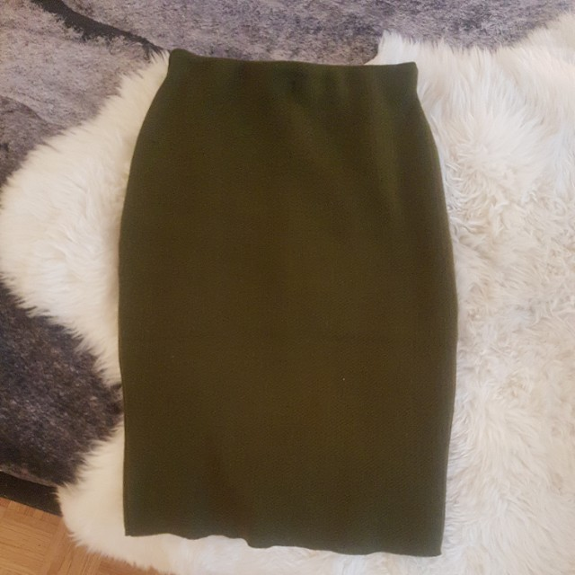 Mendocino green pencil skirt - M