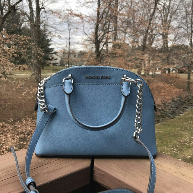 c48d90d0e4408 MICHAEL KORS EMMY SMALL DOME SATCHEL IN SKY