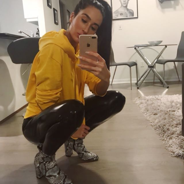 Nakd Fashion Yellow Hoodie