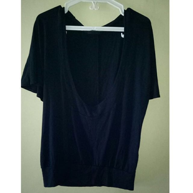 Navy Blue Low Back Top
